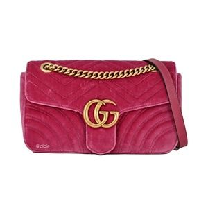 Gucci Small GG Marmont Matelassé Velvet Bag